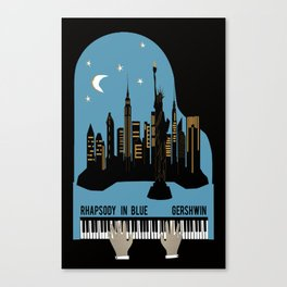 Rhapsody in Blue - Gershwin Canvas Print