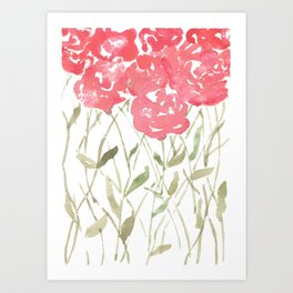 A Bunch Of Red Roses Art Print