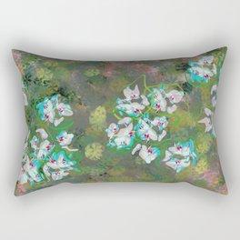 Pastel Orchids design Rectangular Pillow