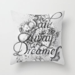 Sail Away Dreamer Throw Pillow
