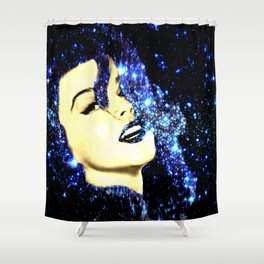 Baby, You're A Star : Royal Midnight Blue Shower Curtain