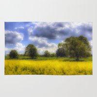 monet Area & Throw Rugs featuring The Monet Farm by David Pyatt