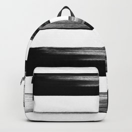 Japanese calligraphy stroke stripe -Zen style, black and white Backpack