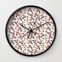 turtles Wall Clocks featuring Turtles by luizavictoryaPatterns
