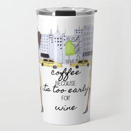 BRUNETTE New Yorker Travel Mug