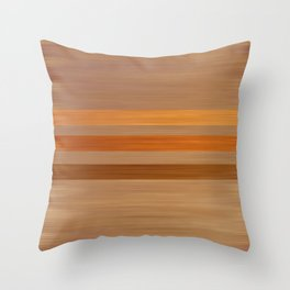 Simulated wood with stripes Throw Pillow