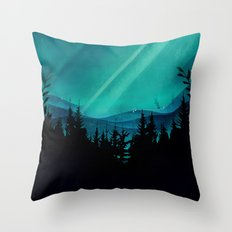 Magic in the Woods - Turquoise Throw Pillow