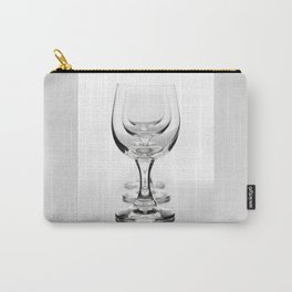 Three empty wine glasses in a row Carry-All Pouch