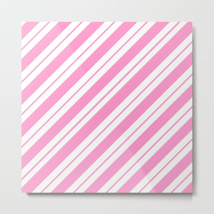 Rose Quartz Peppermint Metal Print