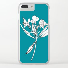 Astromelia Flower Clear iPhone Case