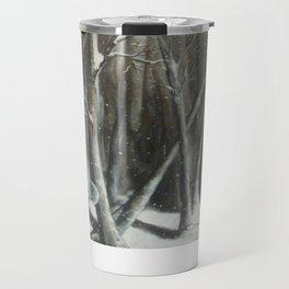 Winter Bubbles ~ Original Art Travel Mug