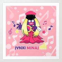 minaj Art Prints featuring Jynxi Minaj  by The Art of Leena Cruz :)