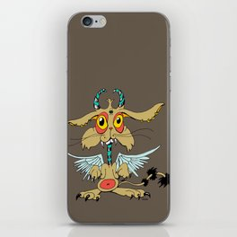 Evil Flying Feline Jackalope  iPhone Skin