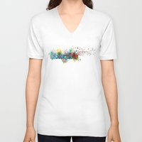 colombia V-neck T-shirts featuring Colombia by LinaG