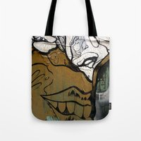 no face Tote Bags featuring Face by Plasmodi