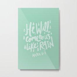 Hosea 6: 3 x Mint Metal Print