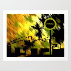 Herbstimpression. Art Print