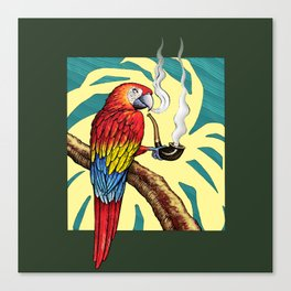 Smokin parrot .... where is my pipe ??? Canvas Print