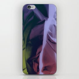 Deep Purple and Green Abstract iPhone Skin