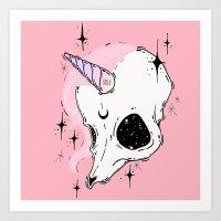 unicorn Art Prints featuring UNICORN *:・゚✧ by lOll3