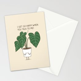 Plant talk Stationery Cards