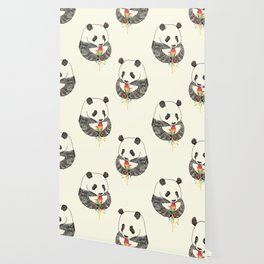 Panda Loves Ice Cream Wallpaper