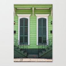 Green Creole Cottage Canvas Print