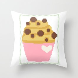 Chocolate chip muffin Throw Pillow