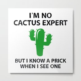 I'm No Cactus Expert Metal Print
