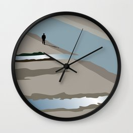 Man and river Wall Clock