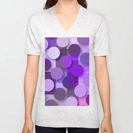 squares & dots violet Unisex V-Neck