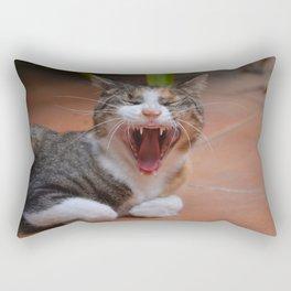 Liza the cat with a big smile Rectangular Pillow
