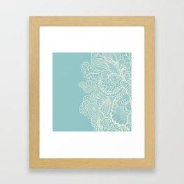 Abstract Nature In Aqua Framed Art Print