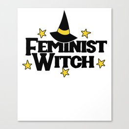Feminist Witch Canvas Print