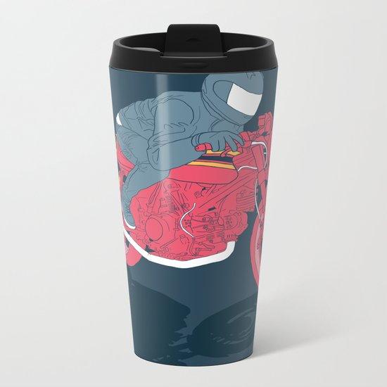 flat Metal Travel Mug