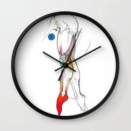 The Show, female legs anatomy, NYC artist Wall Clock
