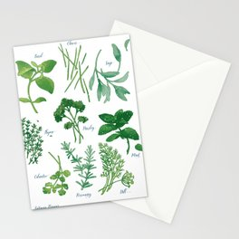 Kitchen Herbs Stationery Cards