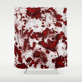 Blood Stains Shower Curtain