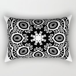 Polynesian style mandala tattoo 2 Rectangular Pillow