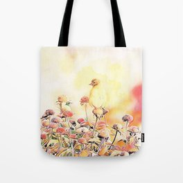 Little Gold Finch Tote Bag