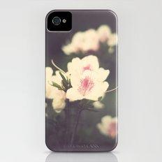 Pink Flowers on Vintage Purple Background  iPhone (4, 4s) Slim Case