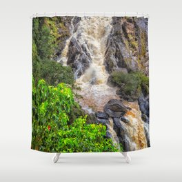 Waterfall in the rainforest Shower Curtain