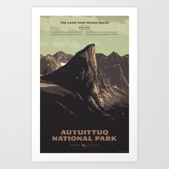 Auyuittuq National Park Art Print