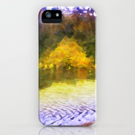 Colorful Lake Painting iPhone Case