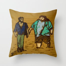 out the hatch Throw Pillow
