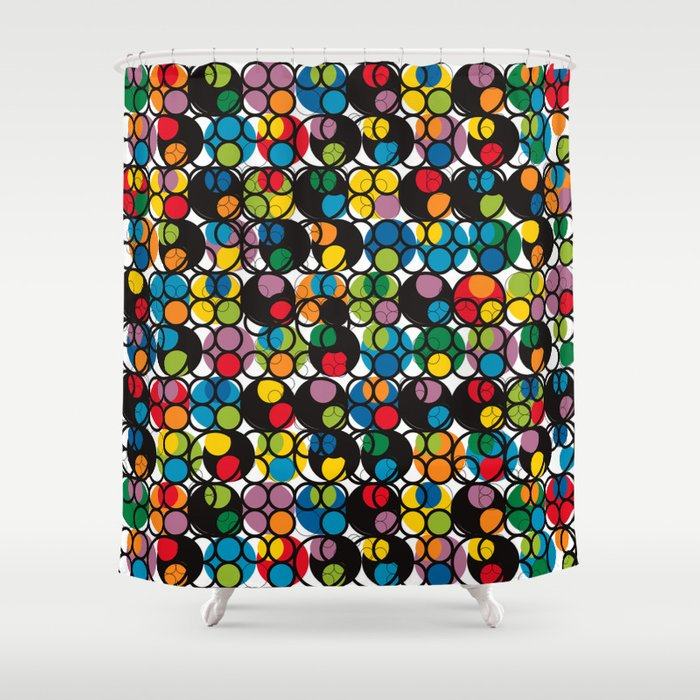 POP - Circles Shower Curtain