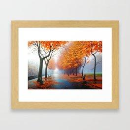 forest red Framed Art Print