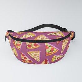 Purple cute pizza slice pattern, pizza pattern, pizza slice Fanny Pack