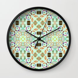 "Seamless pattern in the style of ""printed circuit board"" Wall Clock"