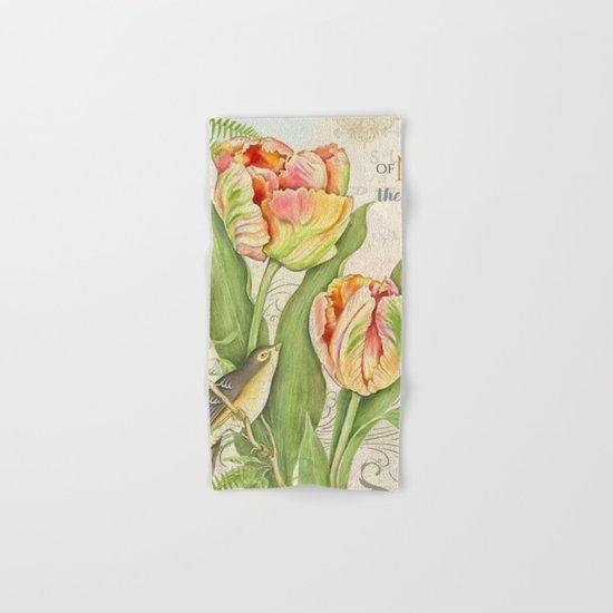 Vintage Flowers #26 Hand & Bath Towel